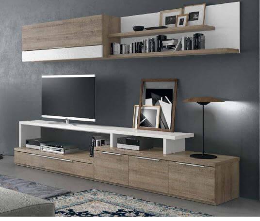 composition tv u5104 l 39 esprit du salon. Black Bedroom Furniture Sets. Home Design Ideas